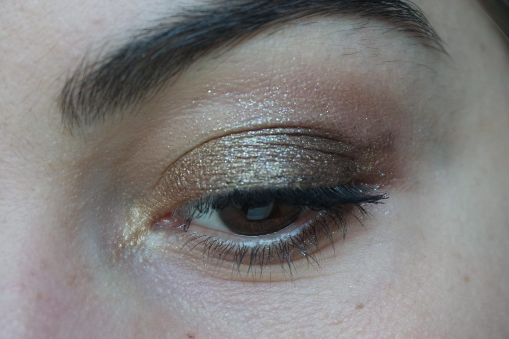 maquillage paillettes dorées Monday shadow challenge