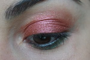 maquillage paillettes rouges Monday Shadow Challenge