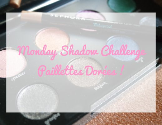 monday shadow challenge paillettes dorées
