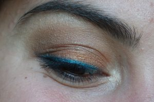 monday shadow challenge bleu azur maquillage