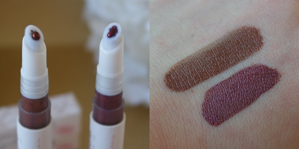swatches couleur caramel fards liquides