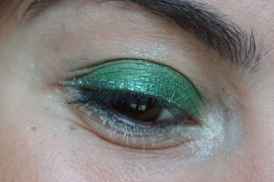 Monday Shadow Challenge argent emeraude maquillage