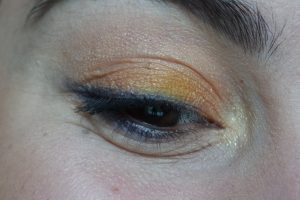 maquillage monday shadow challenge orange bleu nuit