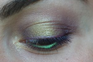 maquillage monday shadow challenge lime violet