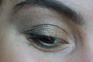 monday shadow challenge maquillage anthracite or
