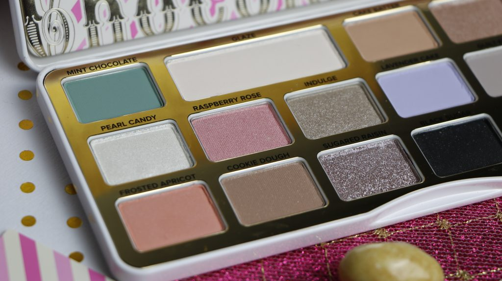 fards white chocolate bar too faced revue swatch