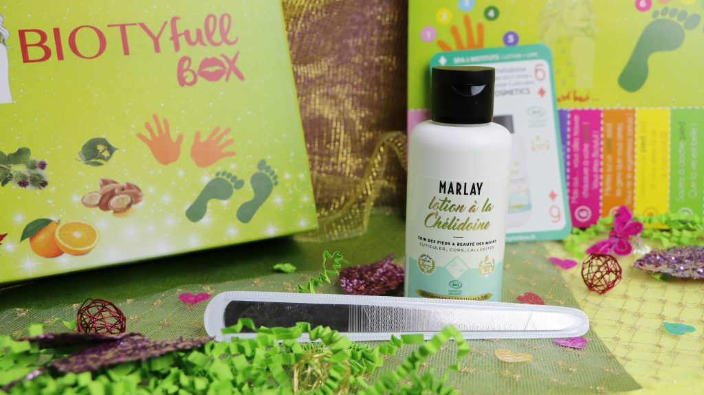 biotyfull box marlay cosmetics lotion chelidoine revue