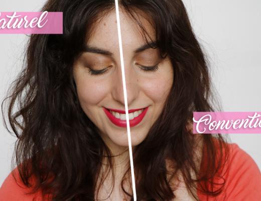 Maquillage bio versus Maquillage conventionnel marron doré