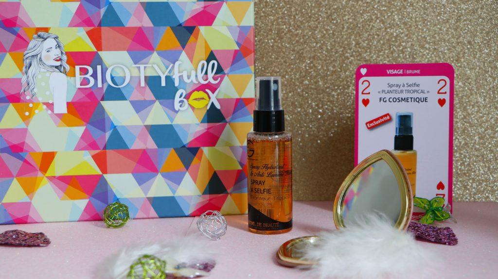 Spray a selfie fg cosmetique biotyfull box avril la parfaite