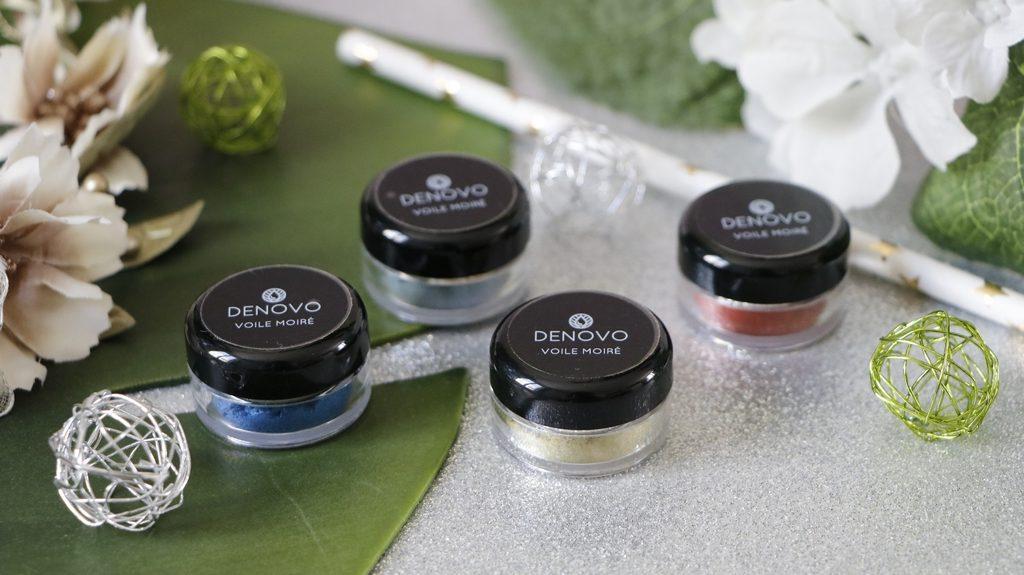 maquillage mineral rouge bleu vert pigments denovo