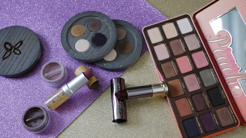 maquillage violine bio contre conventionnel dupe