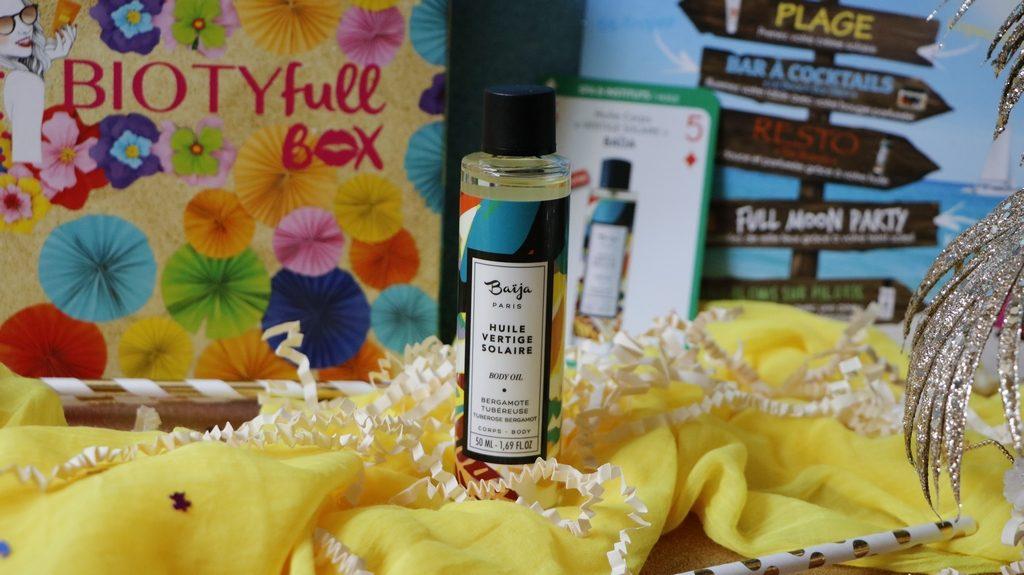Baija biotyfull box juillet exclu vertige solaire huile beaute naturelle