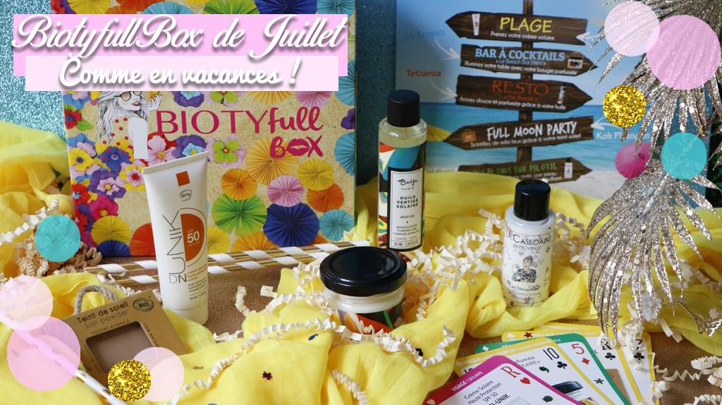 Biotyfull Box juillet 2018