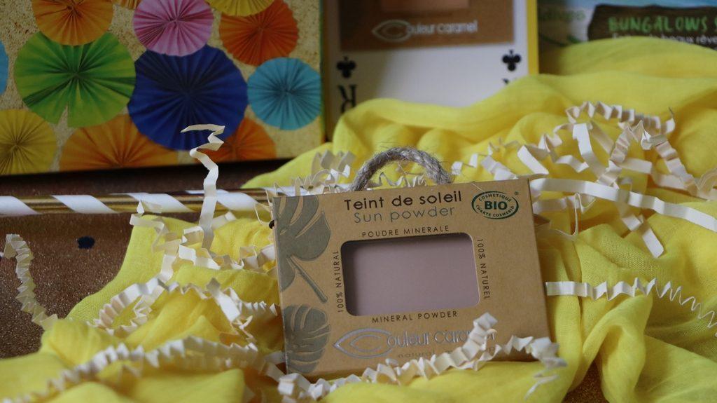 Couleur caramel teint de soleil maquillage bio biotyfull box juillet