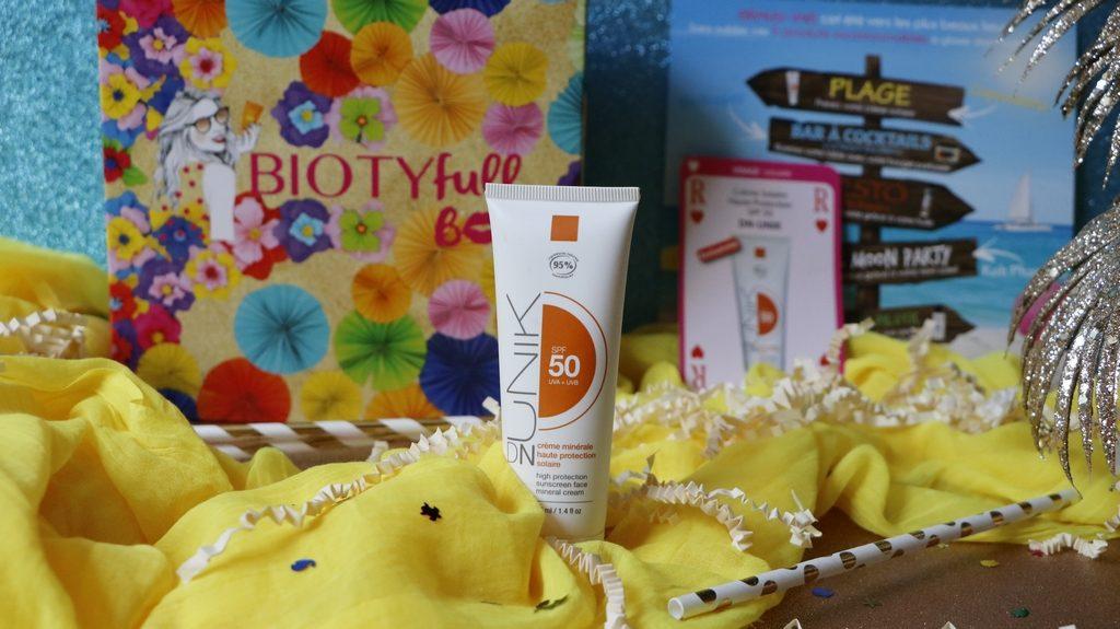 DN UNIK crème solaire Bio Biotyfull Box Juillet ensoleillée