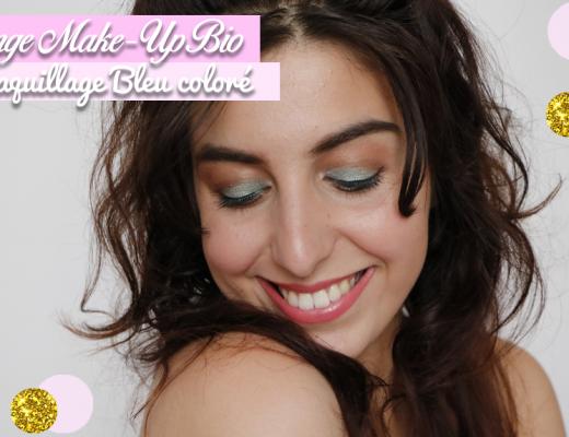Maquillage bio coloré Challenge makeup bio bleu