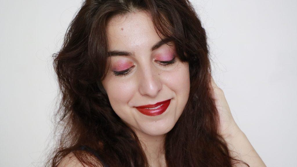 maquillage bio arc en ciel rose boho green makeup
