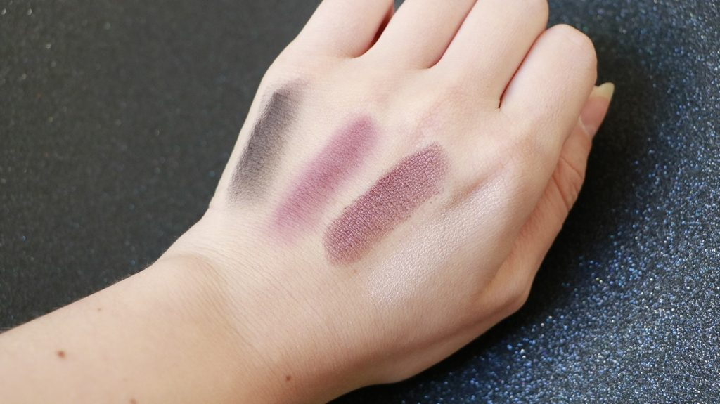 swatch boho green make up maquillage bio yeux violet