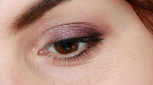 maquillage violet bio boho green makeup