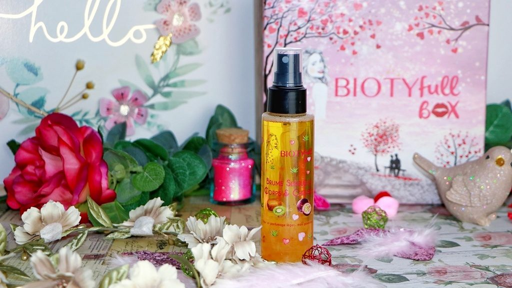Brume parfumée biotyfull box février la bienheureuse