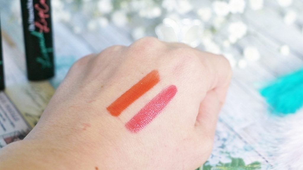 swatch rouge a levre dr hauschka
