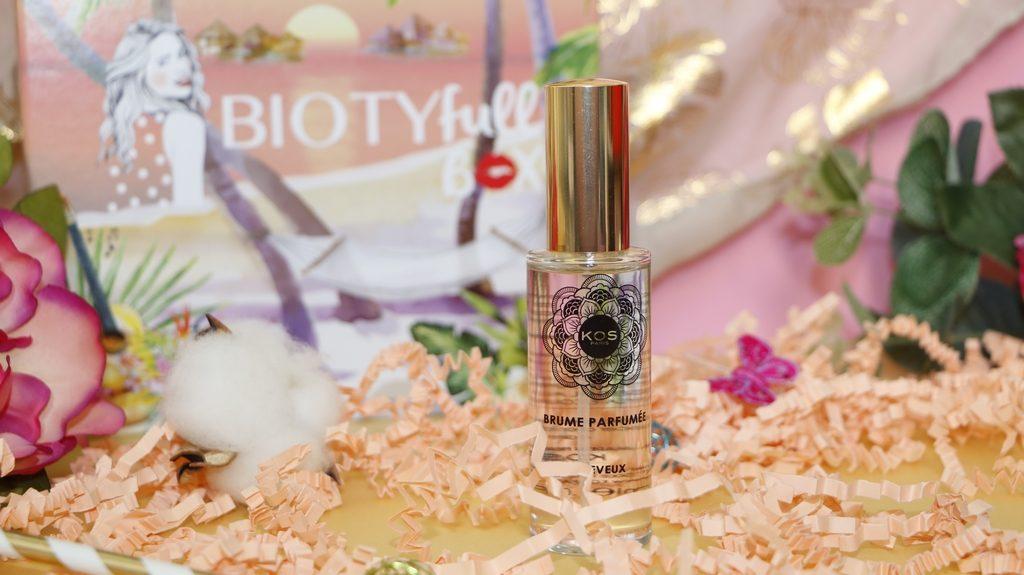 KOS Brume parfumée biotyfull box de juin 2019