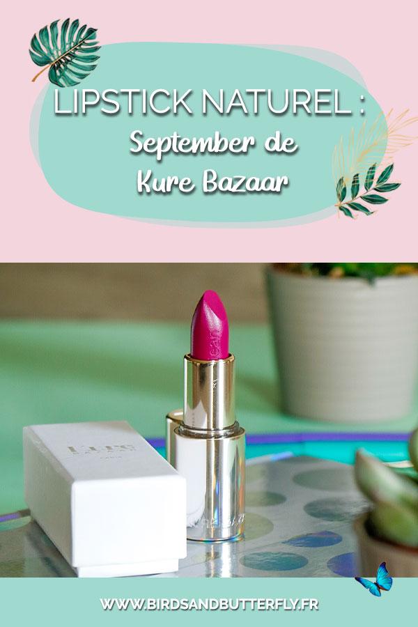 Mon-avis-sur-le-rouge-à-lèvre-naturel-september-de-Kure-Bazaar